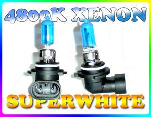 PAIR 55W 9006/HB4 SUPERWHITE 4800K XENON HEADLIGHT BULBS Preview