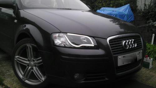 Audi A3 8p 03 08 Black Lightbar Style Drl Projector Headlights Lighting Lamp Buy Online