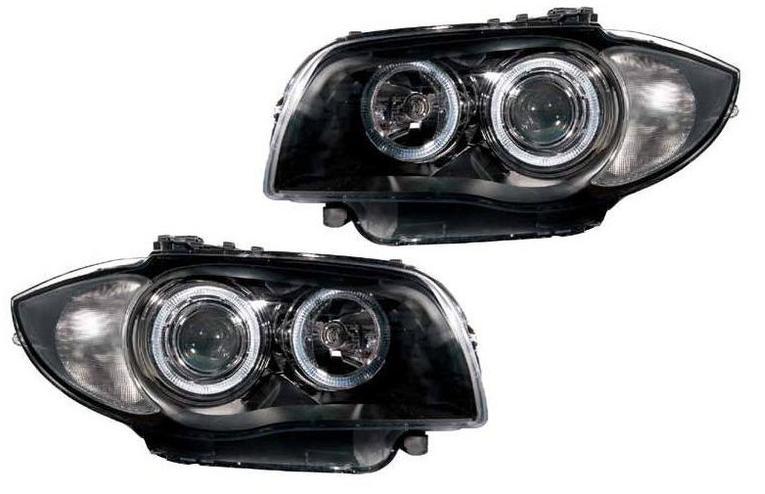 For Bmw 1 Series E81 E82 E87 E88 04 12 Black Angel Eye Projector Headlights Depo Buy Online