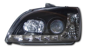 Ford Focus 2 (04-07) Black DRL Headlights