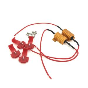 Pair 25w 10ohm load resistors for LED bulbs canbus indicator sidelight P21w 501  Preview