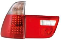 View Item Back Rear Tail Lights For BMW E53 X5 00-03 In Red-Clear Crystal-Look LED