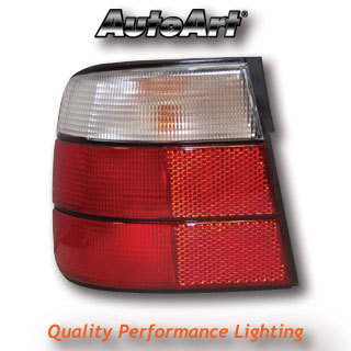 View Item BMW 5-Series E34 1988 To 1995 Saloon Red/Clear Rear Lights Lighting Lamp Part