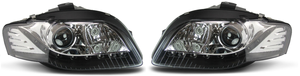 For Audi A4 B7 04-08 Chrome LED DRL Projector Bi-Xenon Hid Headlights Lamps Preview