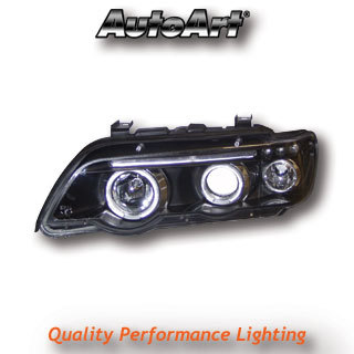View Item BMW X5 E53 98-03 Black Angel Eye Projector Headlights Lighting Lamp Spare Part
