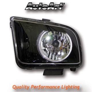 View Item FORD Mustang (2005-) Headlights - Black Angel Eyes Headlamps