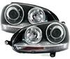 View Item VW Volkswagen Golf MK5 V 04-09 Black PROJECTOR R32 GTi STYLE HEADLIGHTS LHD