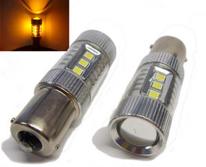 Pair 382 80W Cree 12V/24V High Power LED Bulbs Amber Yellow Orange Indicator Preview