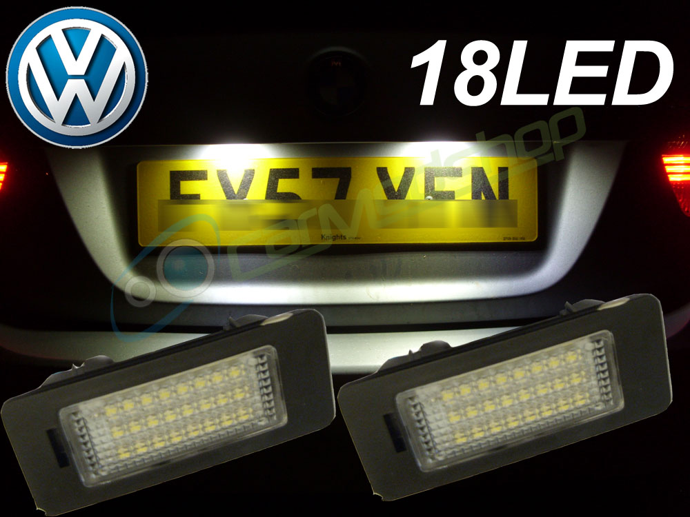 Sentinel 18 Smd Led Rear Number Licence Plate Units Replacement For Vw Pat Cc 09
