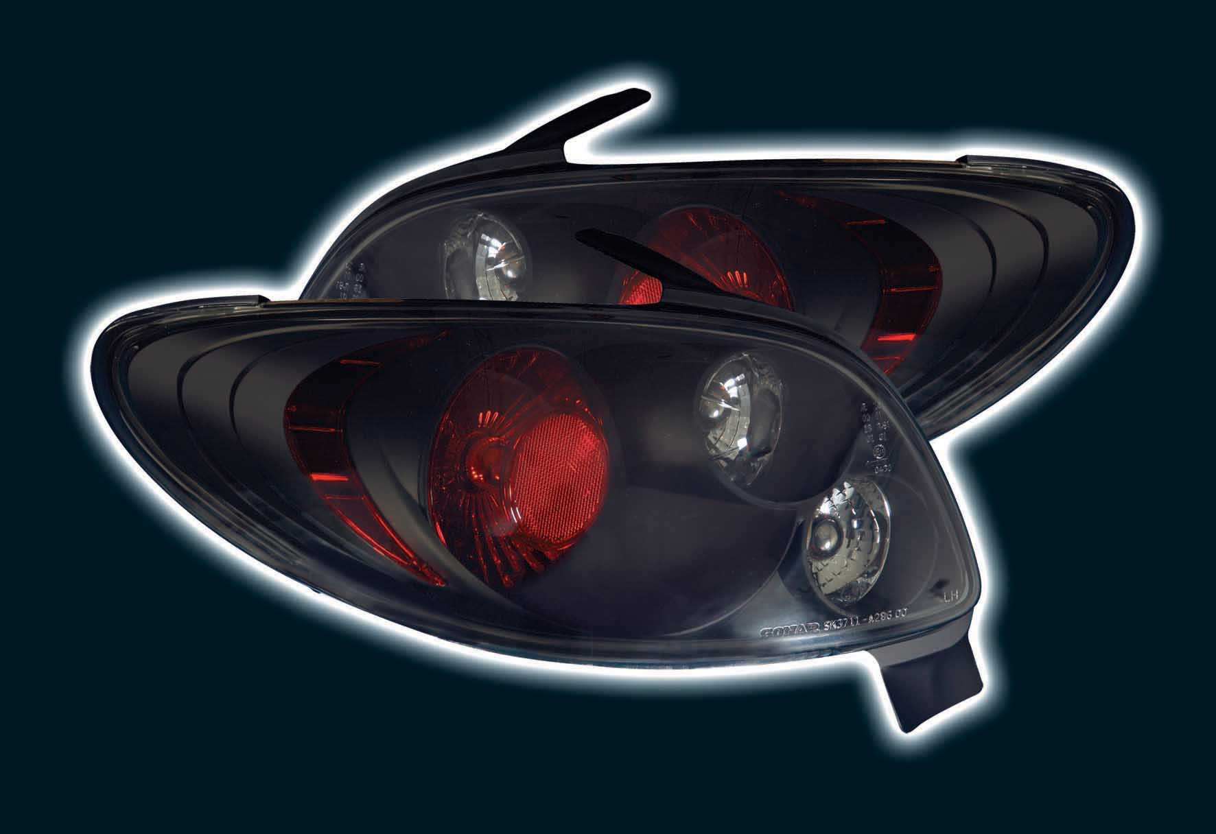 peugeot 206cc cabrio black lexus back rear tail lights lamps