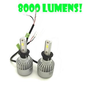 H3 Cob LED Headlight Bulbs Headlamp Kit 8000lm 12-24V Canbus Error Free Preview