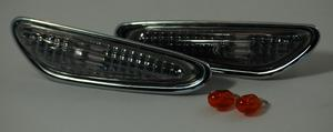 Pair Side Repeaters Indicator Part Clear Smoke BMW E46 Saloon 01-05 E60 E90 Preview
