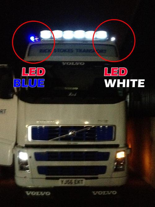 White 24v High Power Led Ba15s 382 Bulb Truck Lorry Top