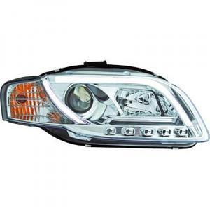 LHD Projector Headlights Pair LED lightbar DRL Clear Chrome Audi A4 Avant 8E 04-07 Preview