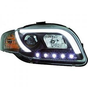 LHD Projector Headlights Pair LED lightbar DRL Clear Black Audi A4 Avant 8E 04-07 Preview