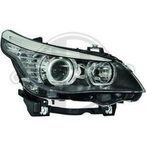 LHD Projector Headlights Pair Angel Eyes Clear Black H7 H1 For BMW E60 61 03-07 Preview