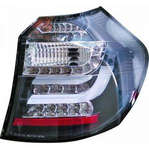 Back Rear Tail Lights Pair Set Clear Smoke Black BMW E81 E87 LED 04-11 Preview