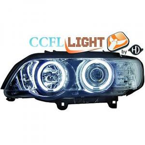 LHD Right Left OS NS CCFL Projector Headlights Pair Clear Chrome BMW X5 E53 99-03 Preview