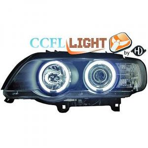 LHD Right Left OS NS CCFL Projector Headlights Pair Clear Black BMW X5 E53 99-03 Preview