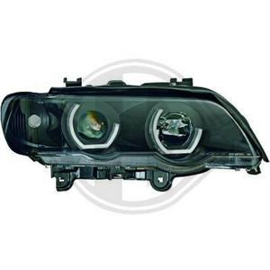 LHD Right Left Headlight Headlamp Pair Angel Eyes Clear Black BMW X5 E53 99-03 Preview