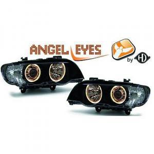 RHD LHD Projector Headlights Pair Angel Eyes Clear Black H7 H7 BMW X5 E53 99-03 Preview