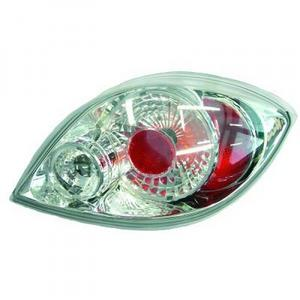 Back Rear Tail Lights Pair Set Clear Chrome Ford Ka   Preview