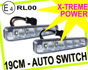 Universal 5 LED X-Treme High Power 19cm DRL Lights Auto Switch E4 & Rl00 Preview