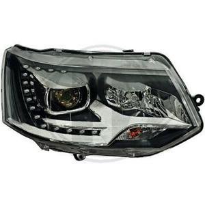 LHD Projector LED DRL Headlights Pair Clear Black PY24W For