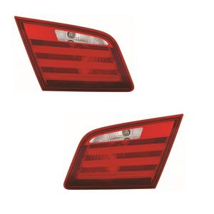 For BMW 5 Series F10 Saloon 2/2010-7/2013 Red & Clear Led Rear Inner Lights Pair Preview