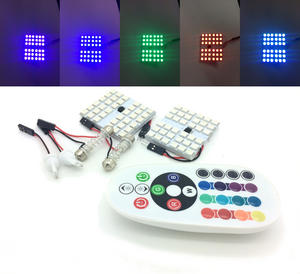 2 pcs INTERIOR 36 SMD LED BOARD STROBE lights REMOTE fits 31MM 36MM 44MM 501 W5W Preview