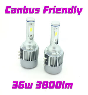 H15 COB LED Headlight Bulbs Kit 7600 Lumens 12v-24v Canbus Error Free 72w DRL Preview