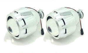 "2 x 2.5"" Bi-Xenon HID Mini Retrofit Projectors Lens H1 H7 H4 Shroud Lights Preview"