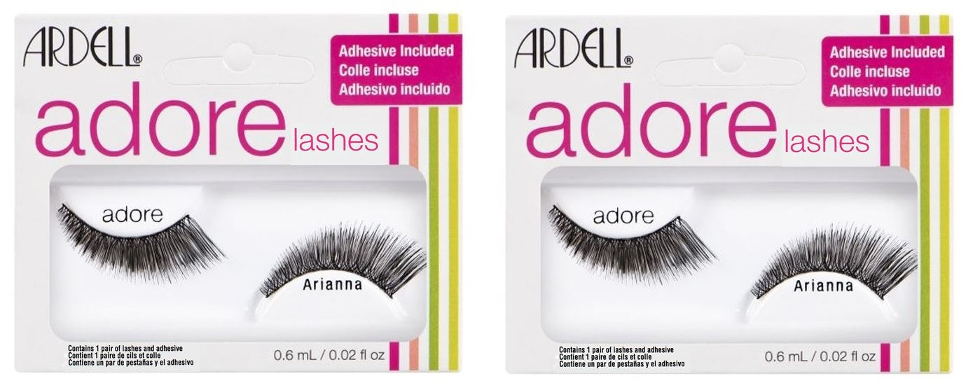 d4077f6cc4d Sentinel 2 x ARDELL Adore 'ARIANNA' Lashes - Black False Lashes - Adhesive  Included