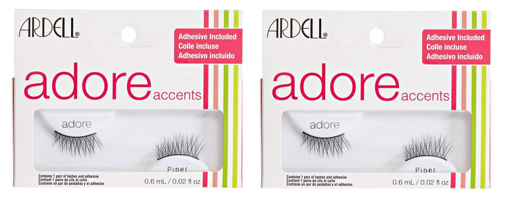 c94ef2459d0 Sentinel 2 x ARDELL Adore 'Piper' Lashes - Black False Lashes - Adhesive  Included