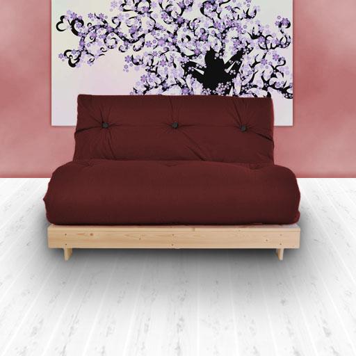 double 2 places complet futon de luxe serg de coton matelas canap lit canap guest ebay. Black Bedroom Furniture Sets. Home Design Ideas