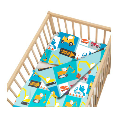 Childrens-Cot-Size-Duvet-Cover-amp-Pillowcase-Nursery- - Childrens Cot Size Duvet Cover & Pillowcase Nursery Baby Bed Crib