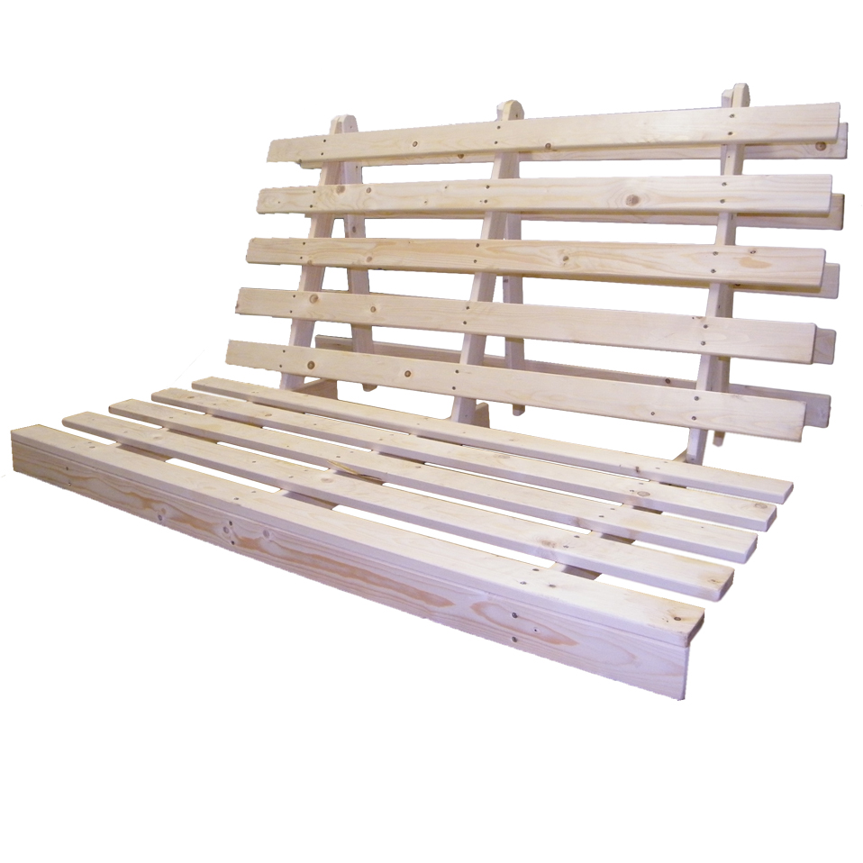 Wooden futon bed base wood sofabed seat frame in 3 sizes for Ikea instructions de lit futon