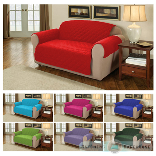 Furniture Protector Quilted Cotton Twill Sofa Armchair Cover Throw Slipcover Ebay