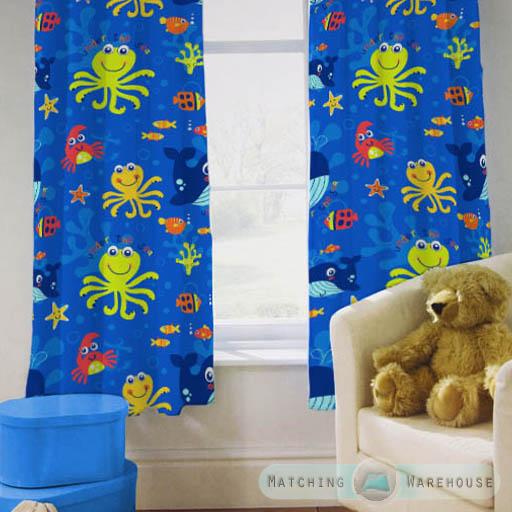 Enfants-rideaux-Maternelles-Enfants-Junior-Tweens-bandeau-superieur-et-plis-serres-tiebacks miniature 5