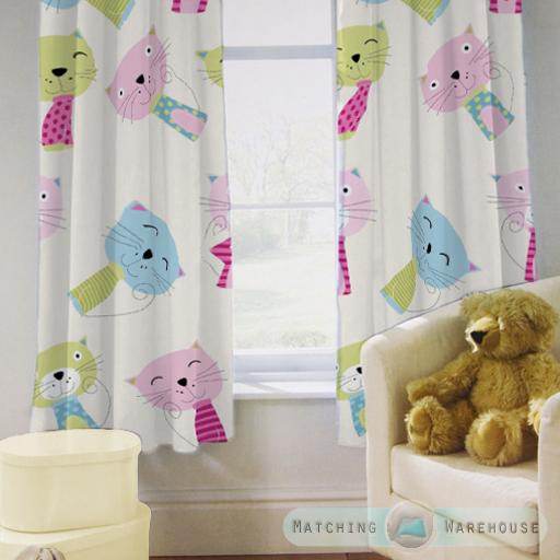 Enfants-rideaux-Maternelles-Enfants-Junior-Tweens-bandeau-superieur-et-plis-serres-tiebacks miniature 11