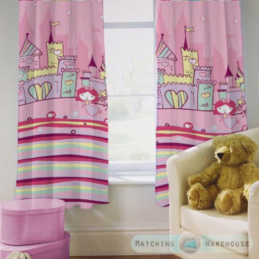 Enfants-rideaux-Maternelles-Enfants-Junior-Tweens-bandeau-superieur-et-plis-serres-tiebacks miniature 35