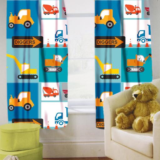 Childrens Nursery Curtains Kids Junior Tweens Tape Top