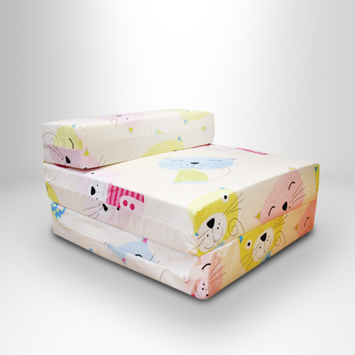 Kids Character Foam Fold Out Sleep Over Guest Single Futon
