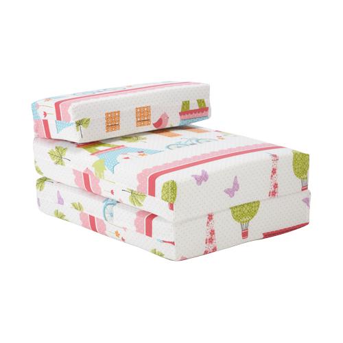 Kids Character Foam Fold Out Sleep Over Guest Single Futon