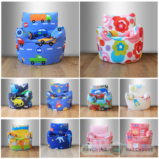 Details about Childrens Character Filled Beanbag Kids Bean Bag Chair Seat Bedroom Play TV Room