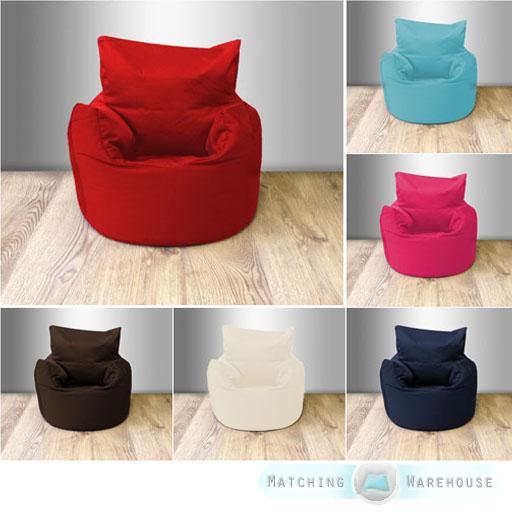 Cotton Twill Childrens Kids Beanchair Bean Bag Seat Chair Armchair Seating Baby