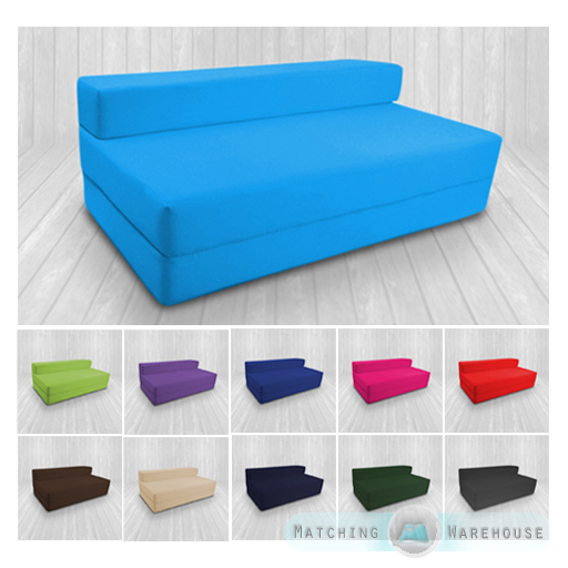 Cotton Twill Z Bed Double Size Fold Out Chairbed Chair