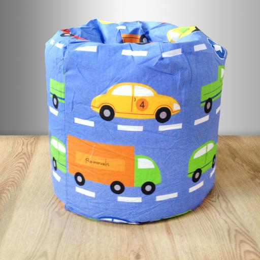 Children S Bean Bag Traffic Express Boys Cars Kids Bedroom Furniture