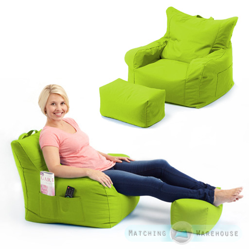 Large-Indoor-Outdoor-Bean-Bag-Garden-Chair-amp-Foot-Stool-Lounger-Gamer-Waterproof