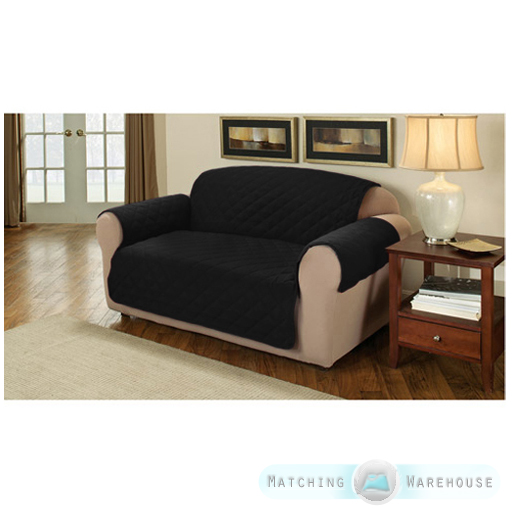 Suede Quilted Furniture Protector Sofa Armchair Cover Throw